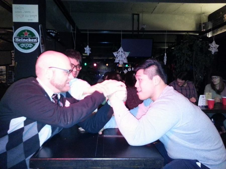 Easily losing arm wrestling matches to cocky Korean professional wrestlers with massive freaking arms at bars has probably not helped much for weight loss. But, it is good to be knocked down a peg now and again.