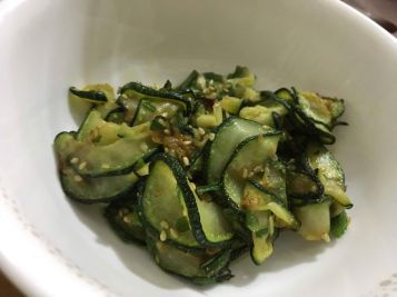 Fried zucchini banchan.