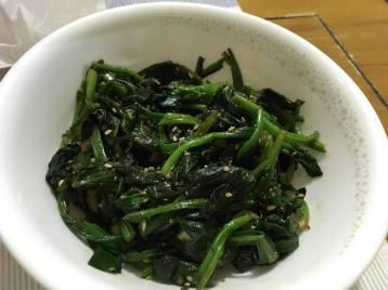 Sigeumchi Muchim (Spinach banchan).